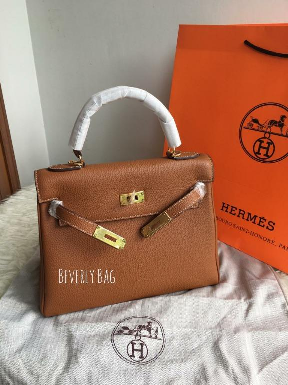 Jual Tas Bag HM KLY 28CM LEATHER MIRROR QUALITY - Coklat Camel