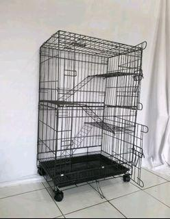 Kandang kucing tingkat 3 size 75x100cm free ongkir bayar ditempat