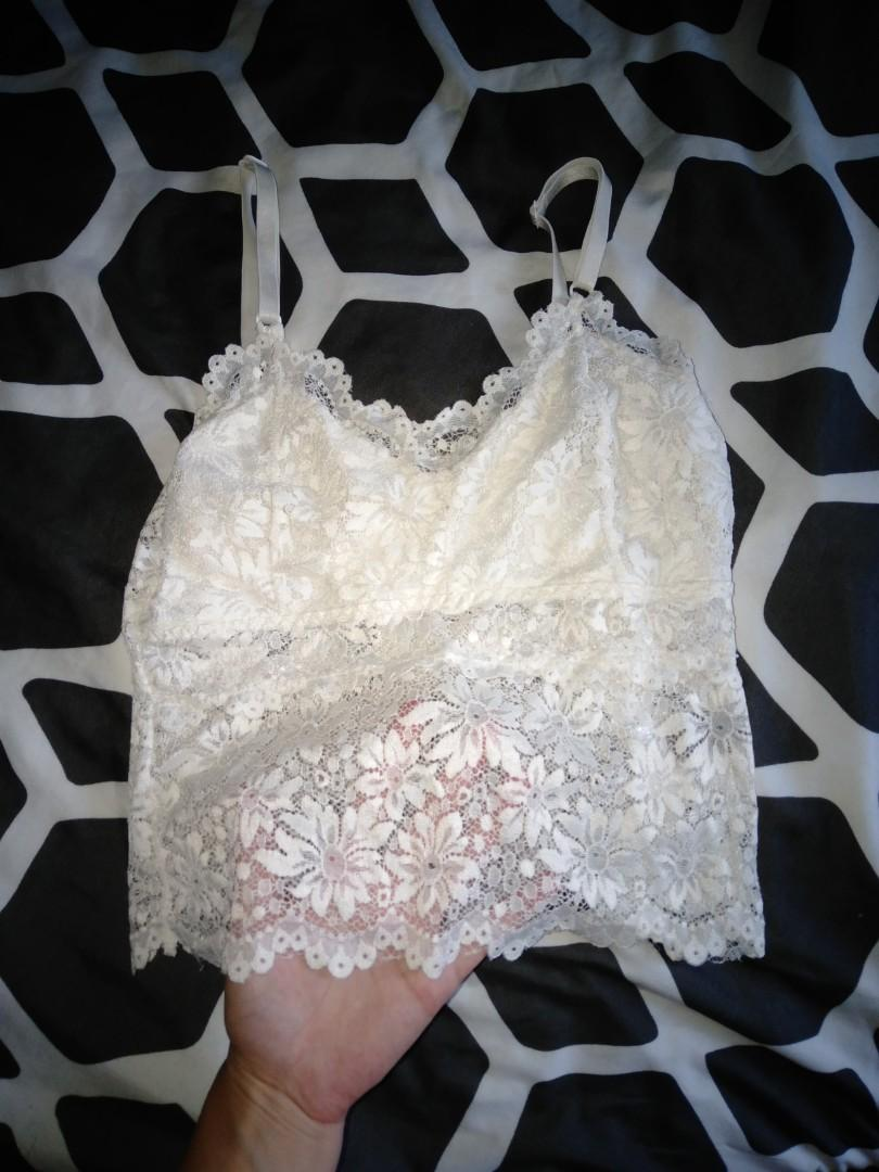 Lace singlet/crop
