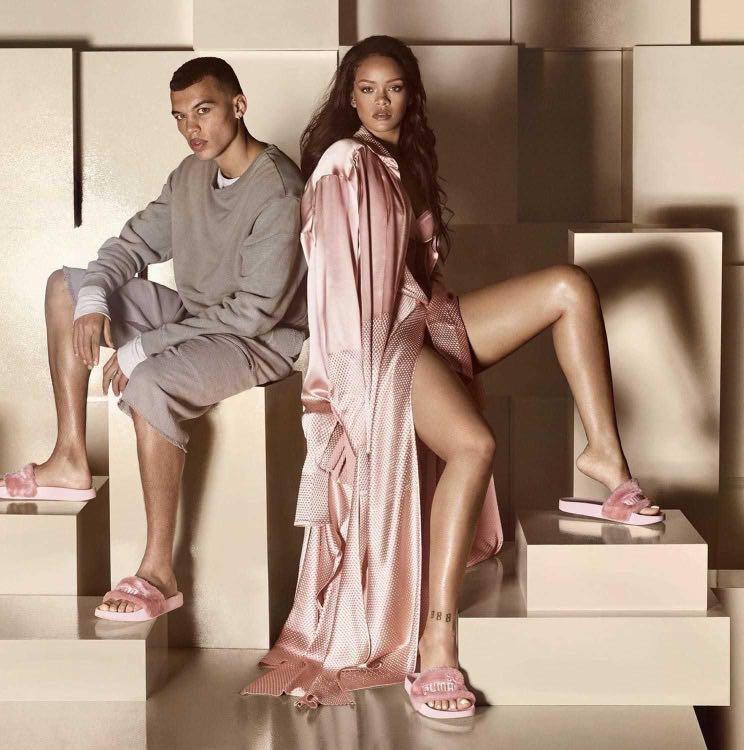 Limited Edition FENTY Pink Fur Slides