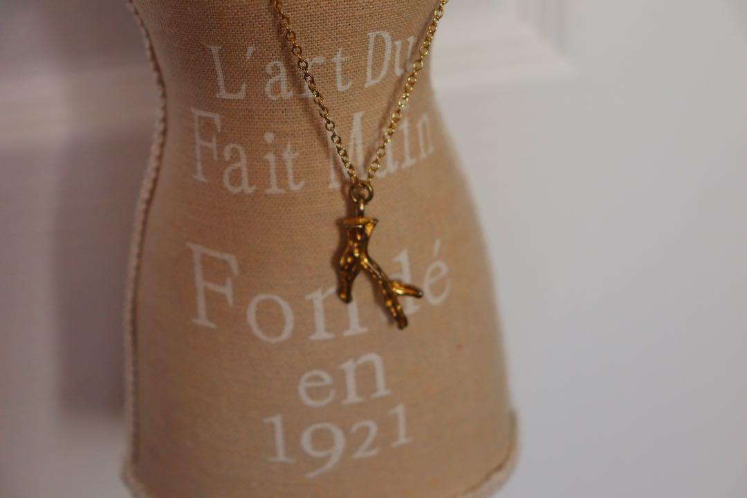Maison Scotch tree bark necklace