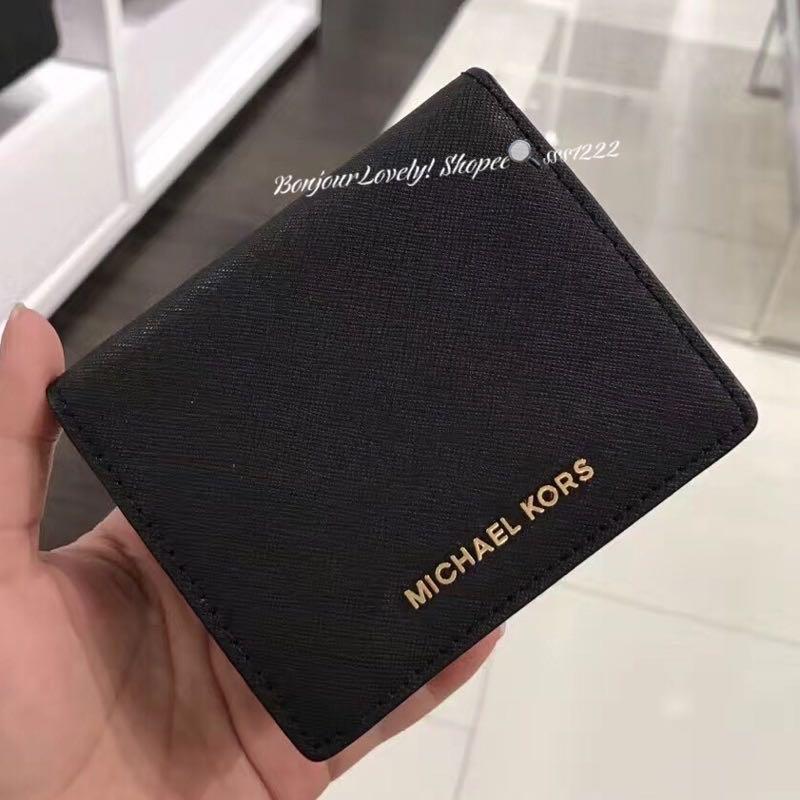 MICHAEL KORS 防刮兩折零錢包短夾 mk 短夾 錢包(有拉鍊零錢袋)