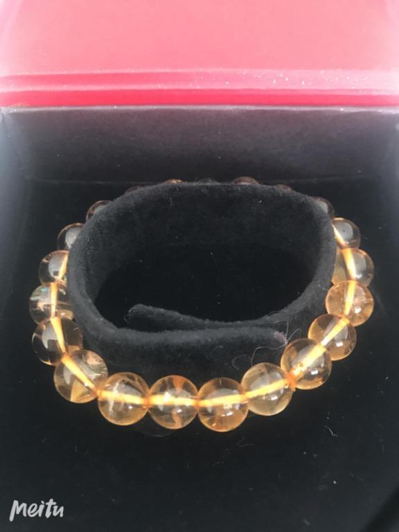 Yellow crystal bracelet