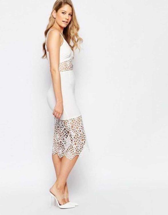 *NEW* Jarlo Crochet Midi Dress