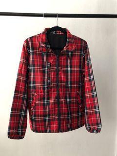 Plaid Windbreaker Jacket