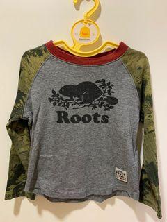 ROOTS迷彩長袖T恤