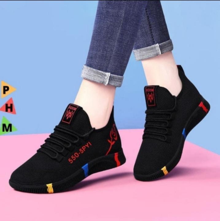 Sepatu Sneakers Wanita Korea Import Sepatu Olahraga