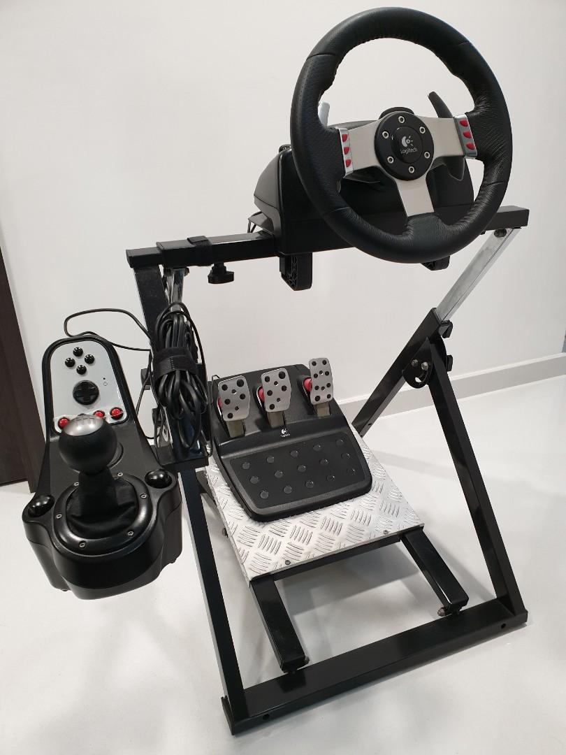 Sim Racing Setup Next Level Racing Wheel Stand Logitech G27 Toys Games Video Gaming Gaming Accessories On Carousell