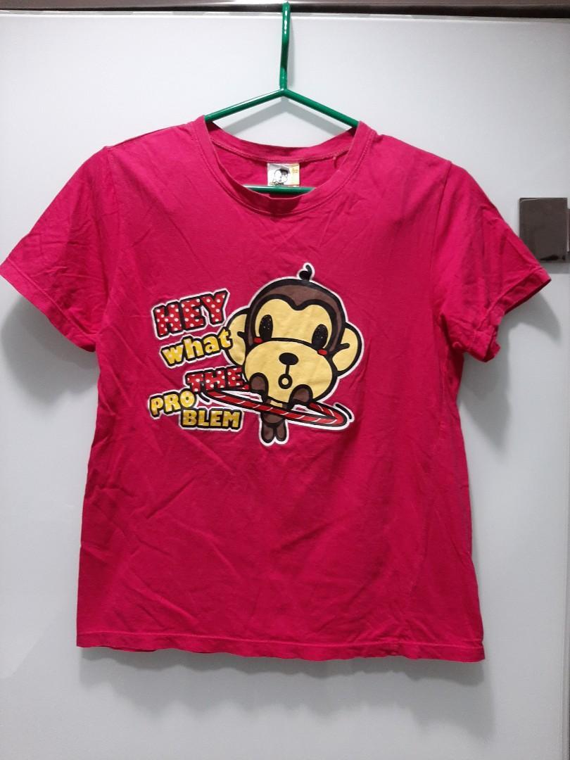 桃紅色猴子上衣💐滿299元免運費