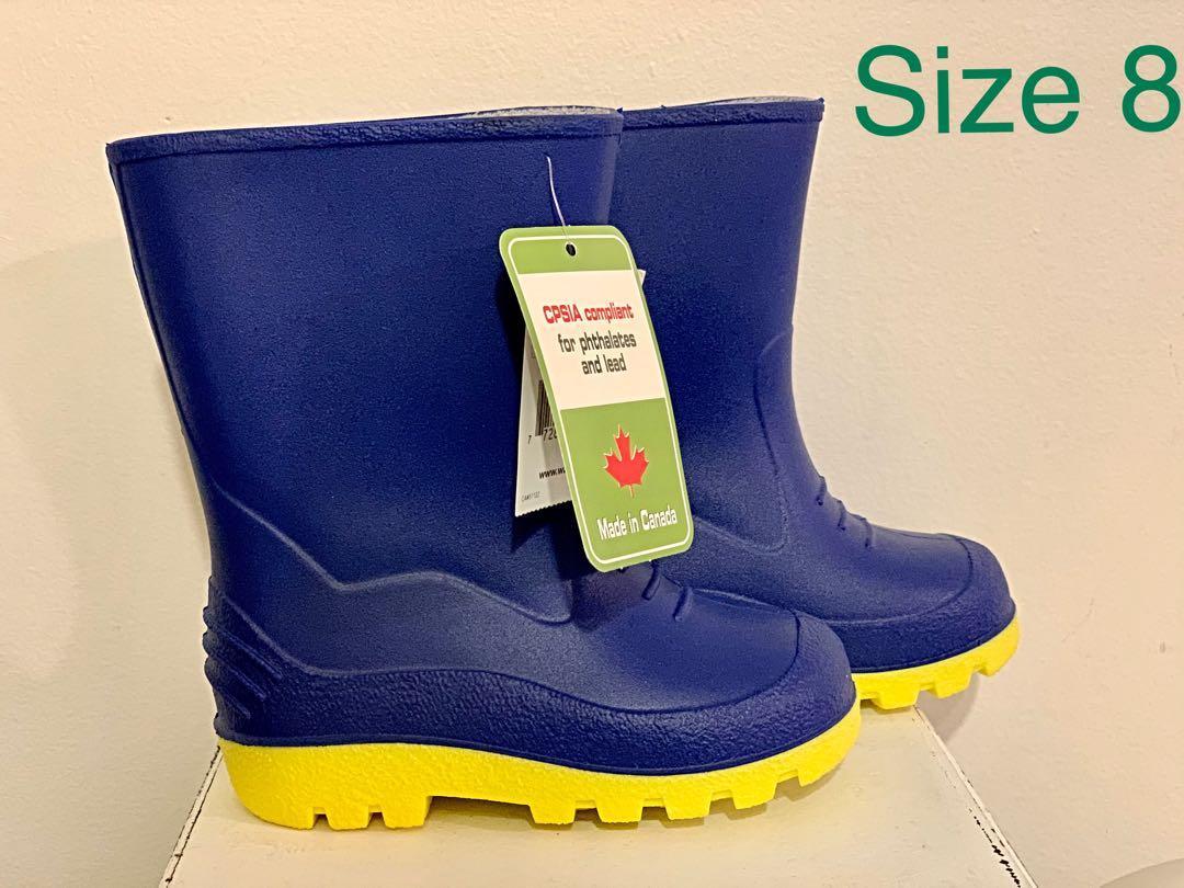 2 brand new toddler boys winter & rain boots