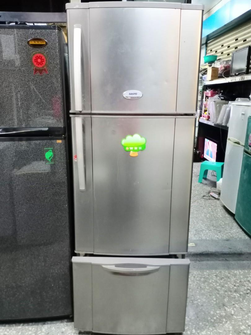 免運費#三洋430公升三門冰箱,台北車站10公里內,電梯和一樓免運費,含運到府,全機免費保固三個月