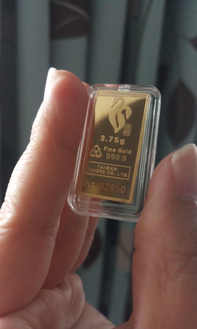 純金9999小金塊,1.0錢#附保單#送禮,保值首選