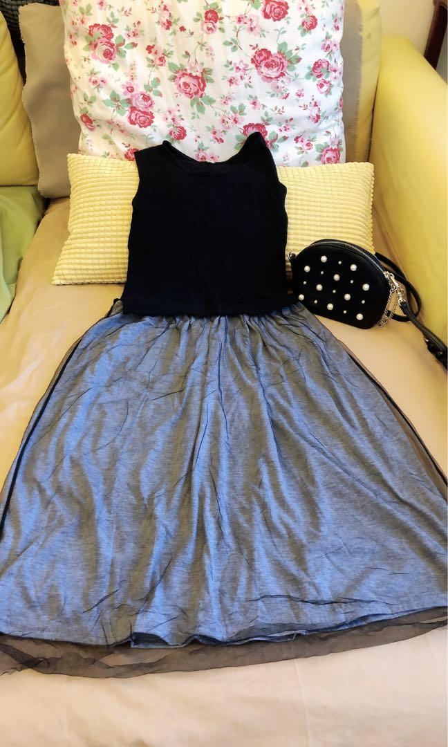 連身紗裙洋裝