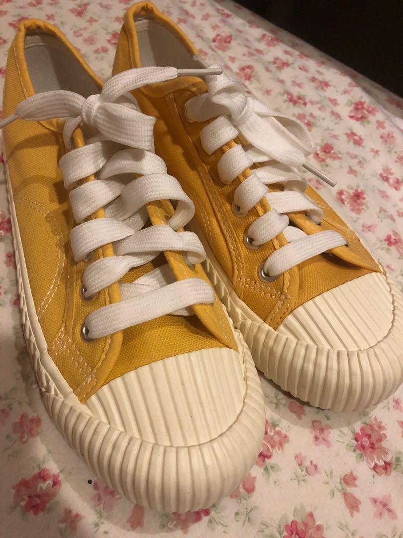 黃色餅乾帆布鞋#剁手價