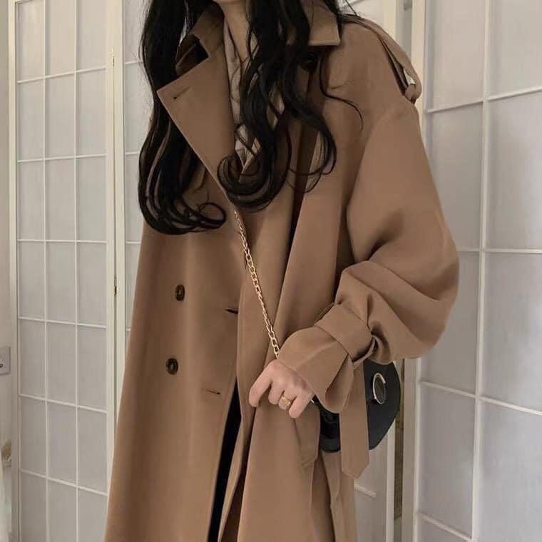 韓國長版風衣外套