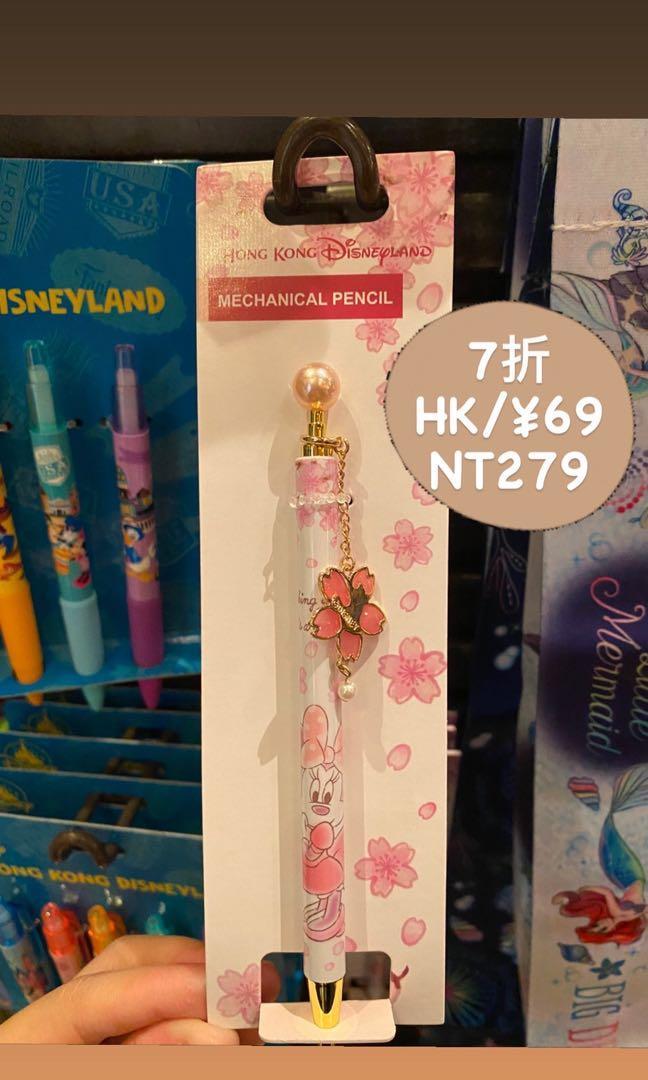 香港迪士尼米妮造型自動筆