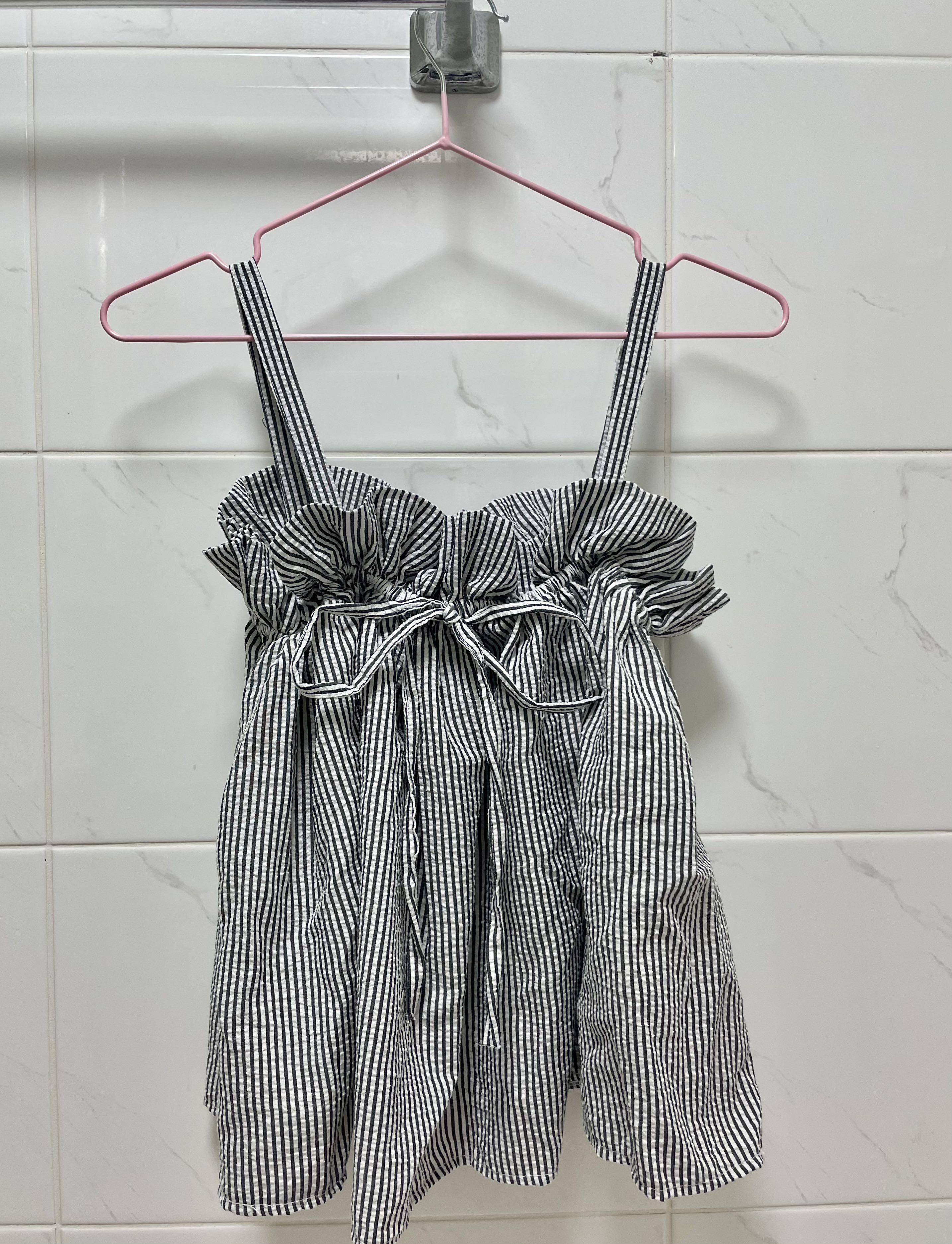 [二手]條紋細肩帶上衣