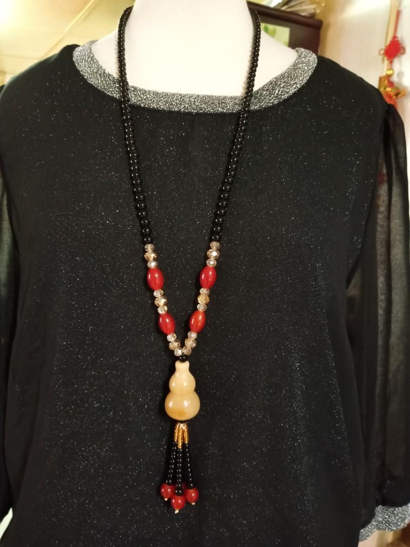 瑪瑙葫蘆設計款長鍊 毛衣鍊