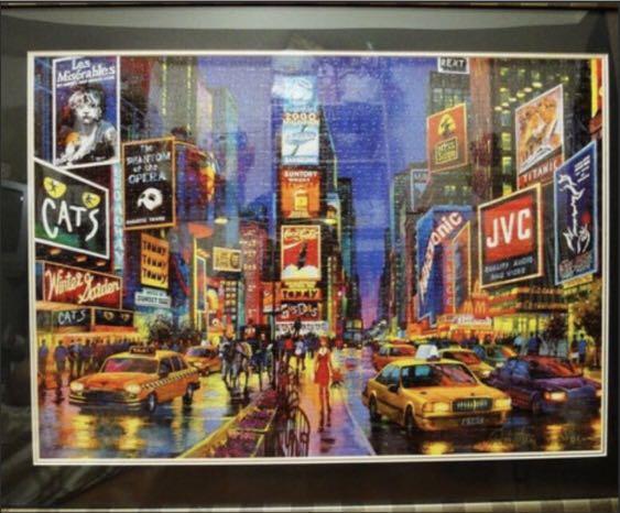 (拼圖)🧩美國紐約時代廣場 夜光拼圖
