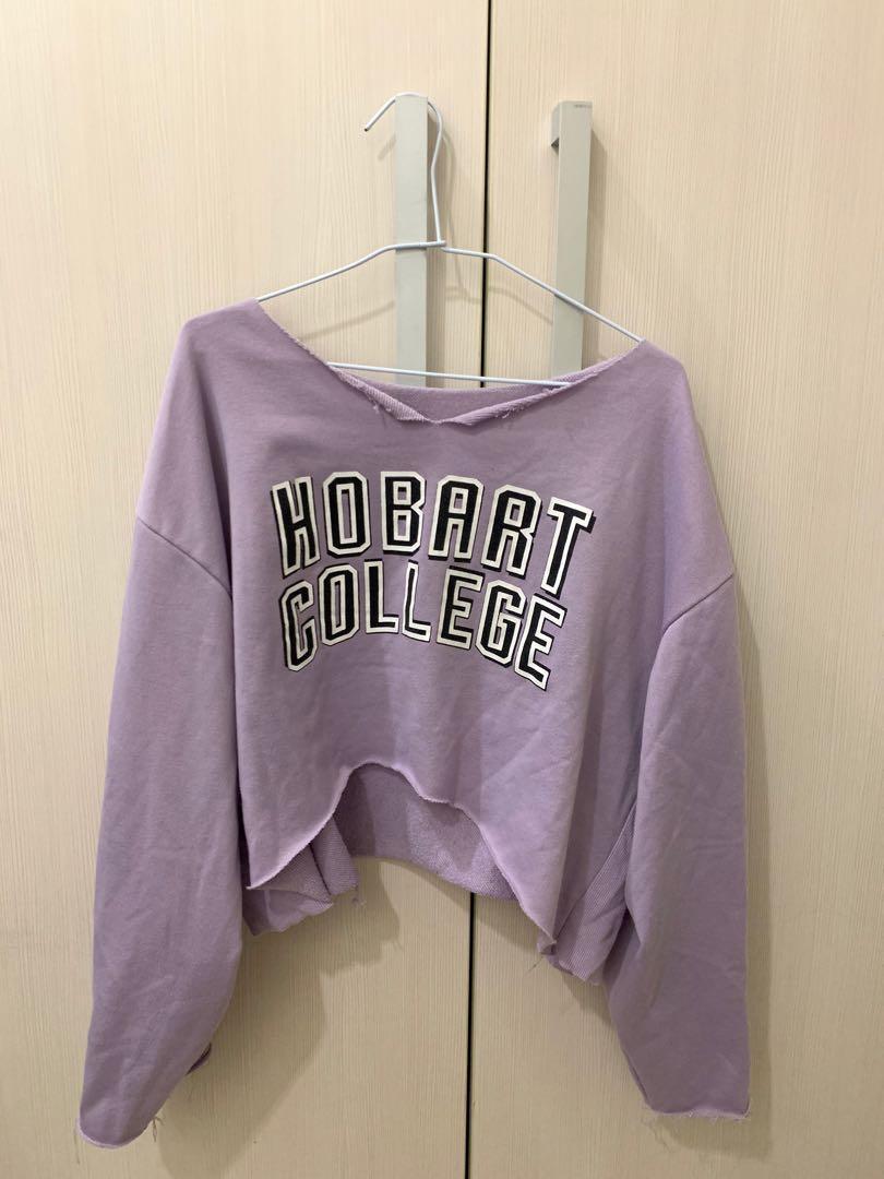 紫色 寬袖上衣