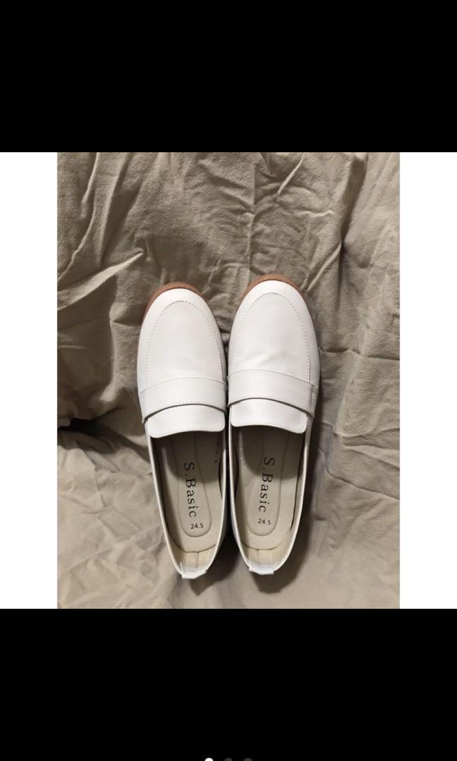奶茶杏色樂福鞋 包鞋 氣質皮鞋