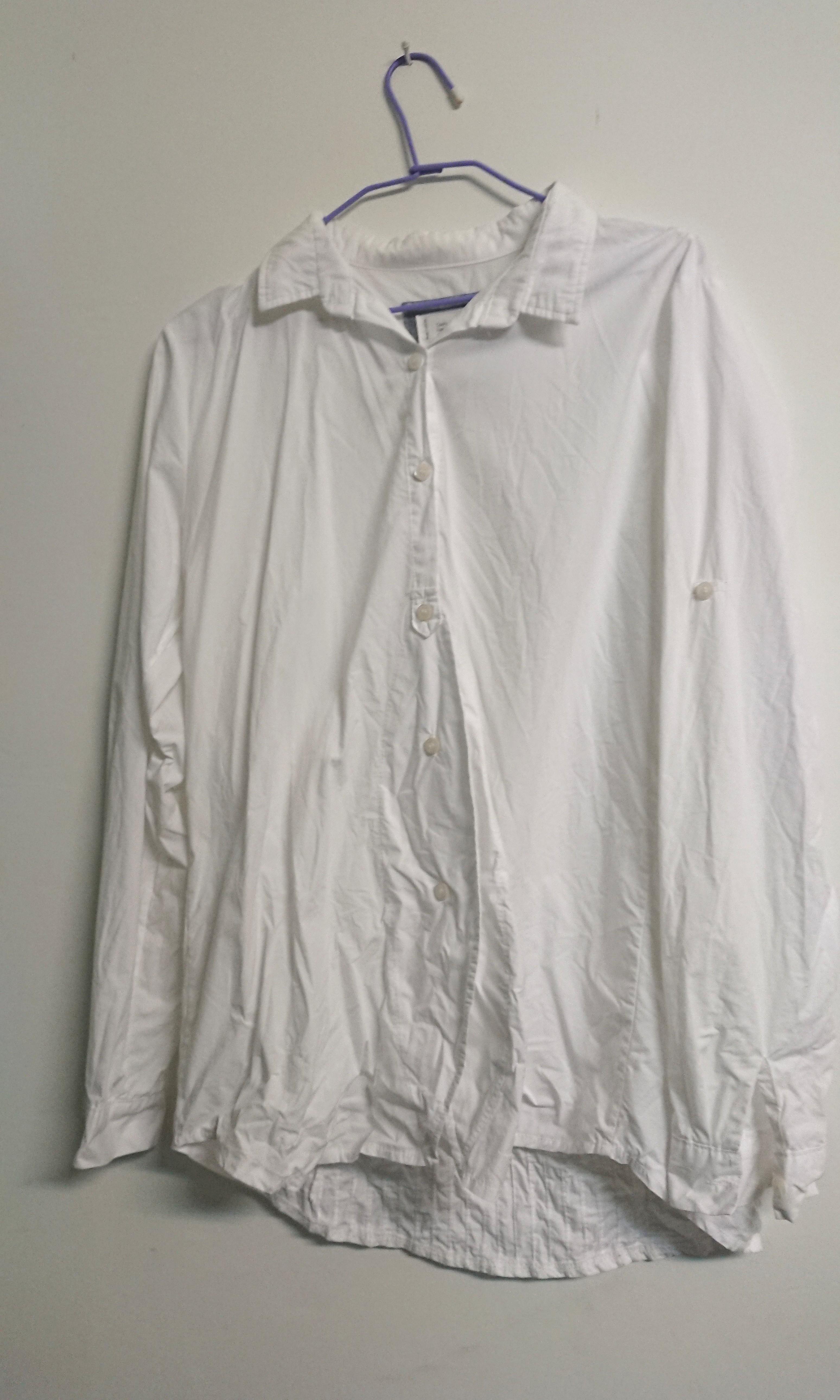 長袖 白色 襯衫