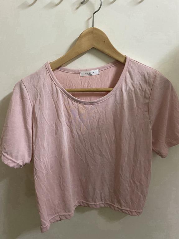韓國製 韓版 粉紅色 圓領 超舒適棉質 短袖上衣 240 #剁手價