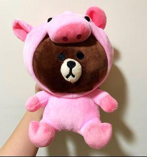 [現貨] 熊大小豬 豬豬熊大 動物裝 娃娃 玩偶 吊飾 絨毛娃娃