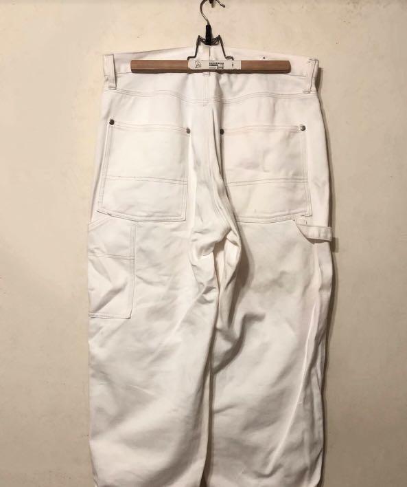 (可議價.免運) 日牌niko and寬版白色畫家褲