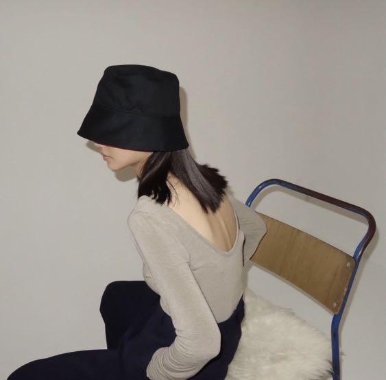 轉賣 studio doe 黑色鐘形帽 戴一次