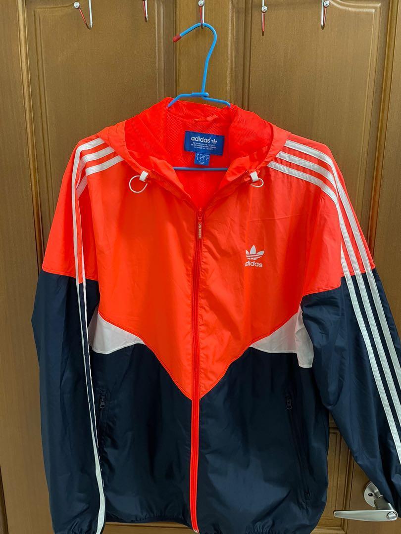 Adidas 橘藍防風外套