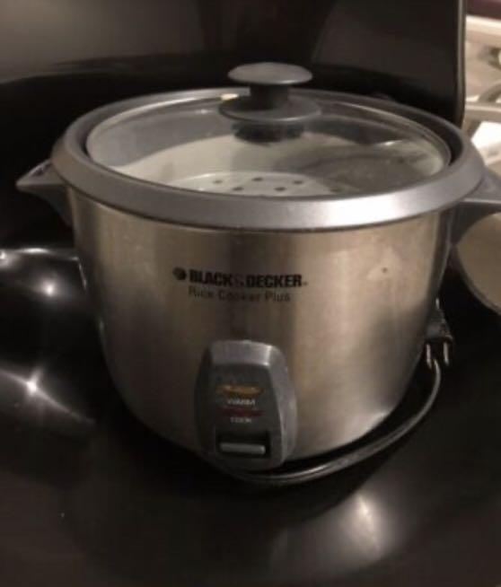 Black decker rice cooker plus