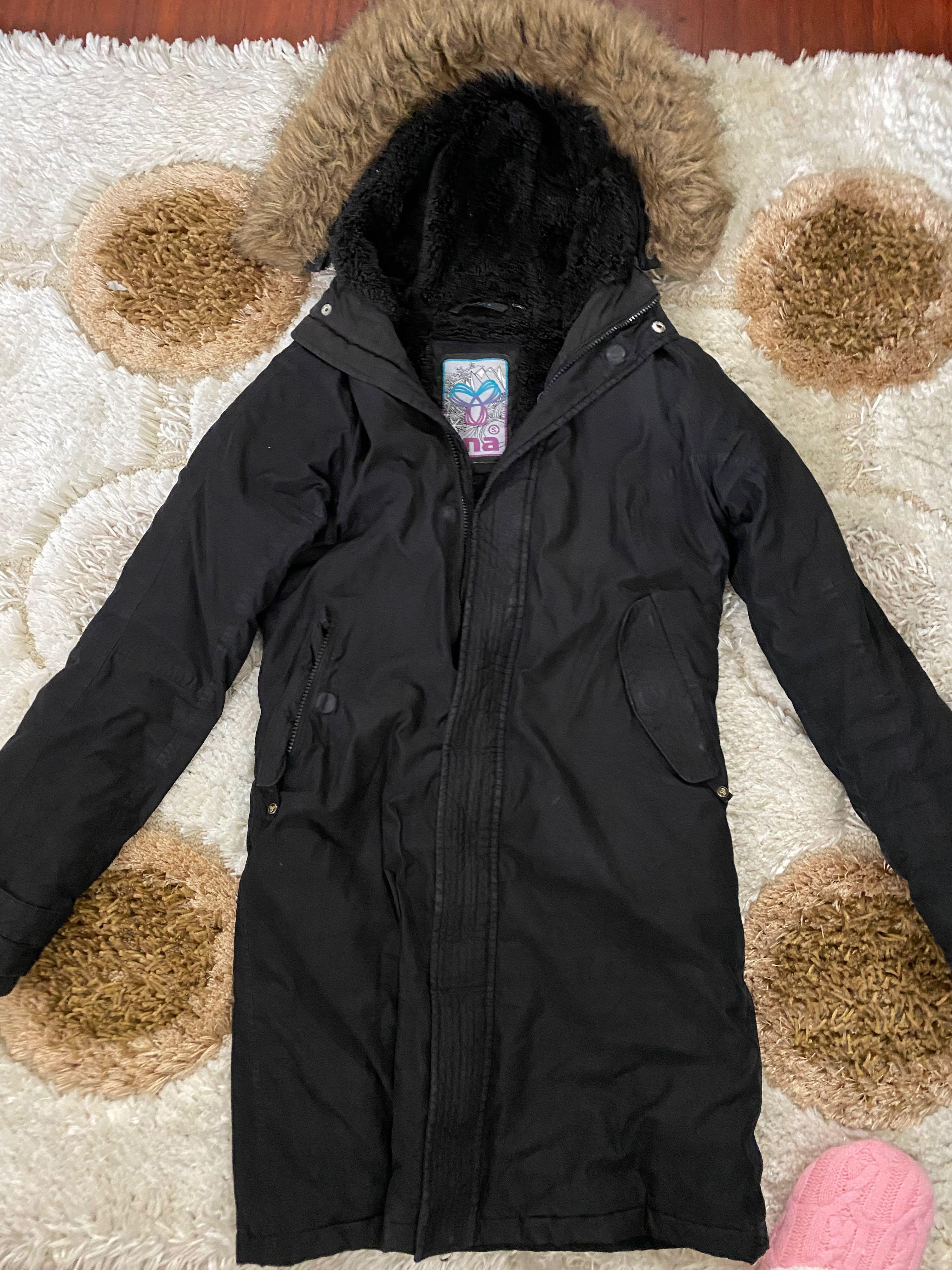 Black long small tna winter coat