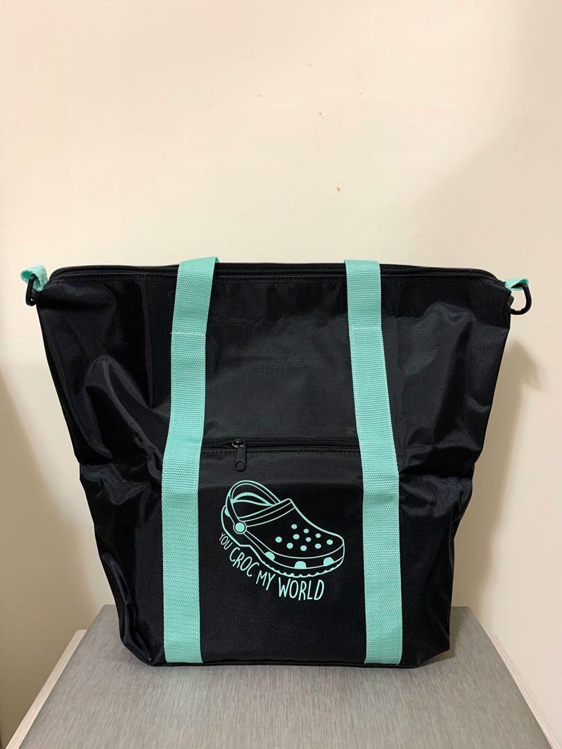 🎀crocs兩用購物袋防水包旅行袋兩用包媽媽包(附斜背袋)