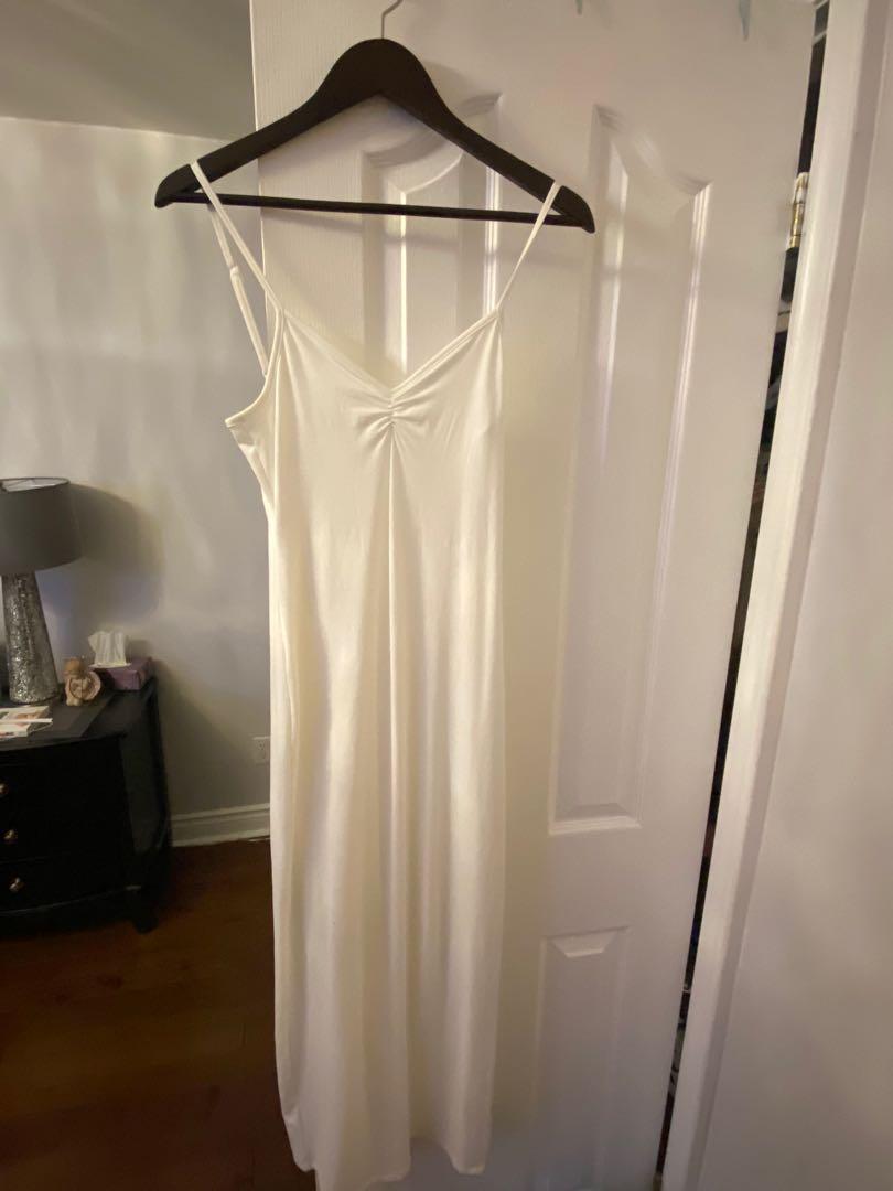 Fashion Nova Full Length white dress