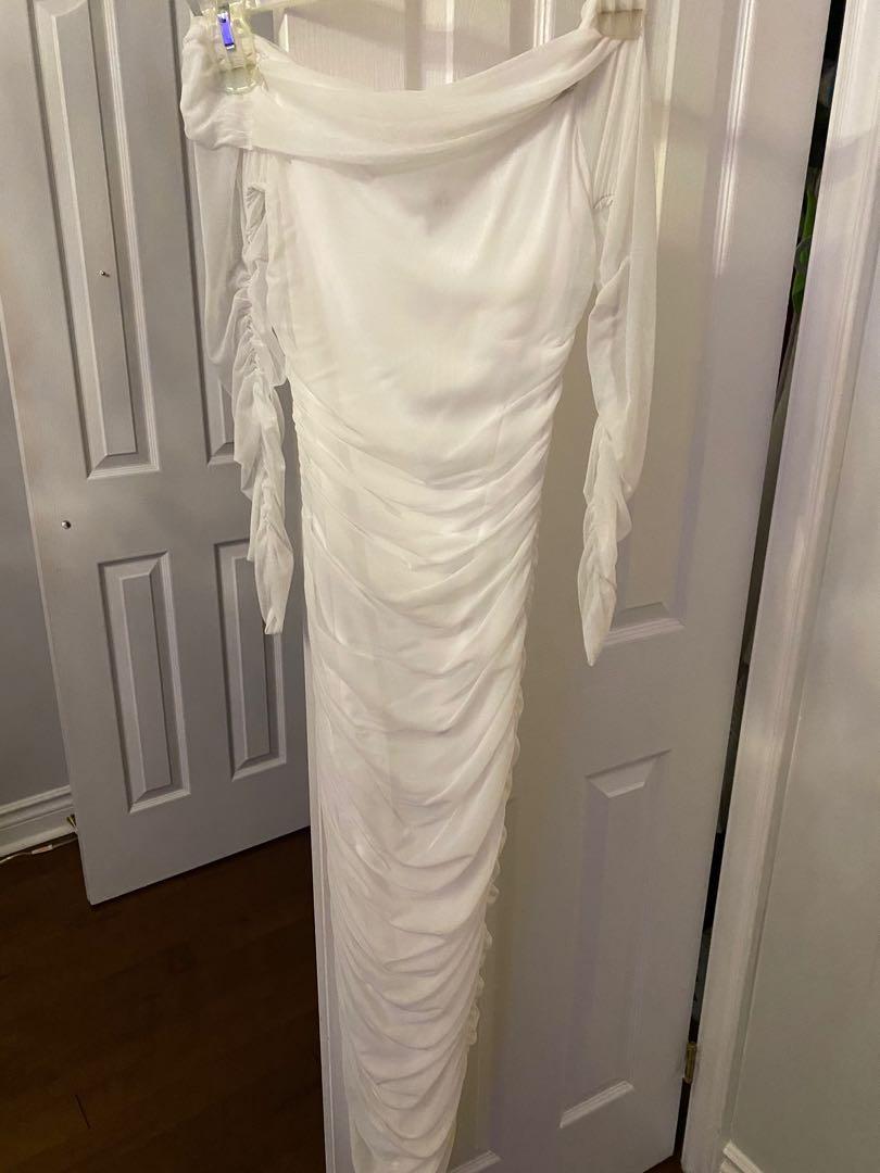 Fashion Nova long dress white
