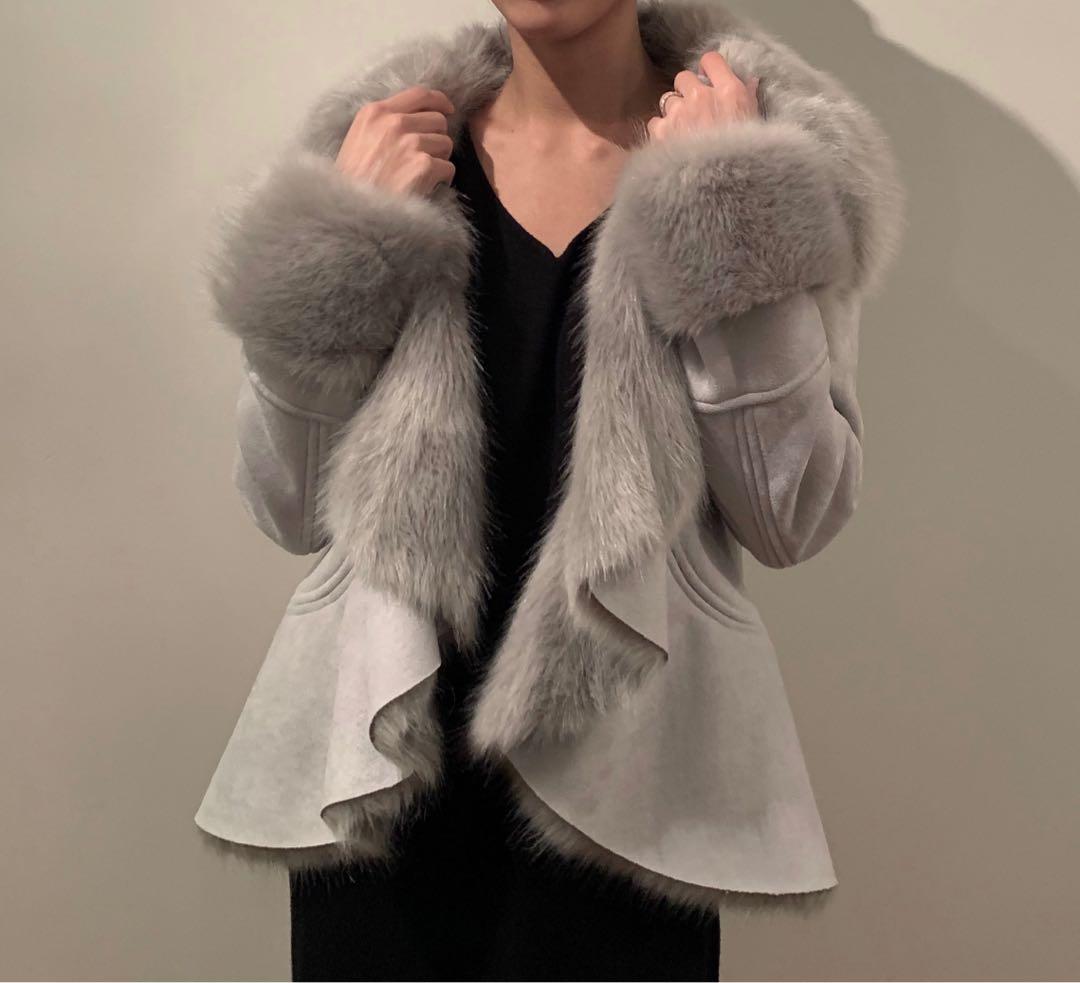 Faux Shearling Fur Coat