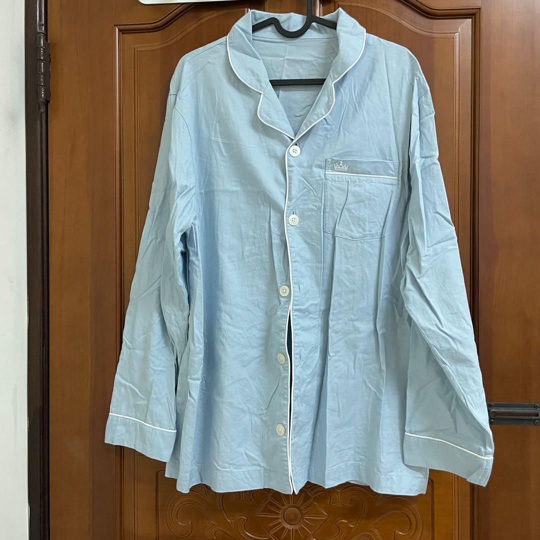 Gu 睡衣淺藍色 整套含褲子