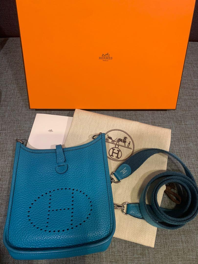 Hermes Mini Evelyne 松石藍