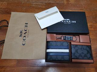Instock 3 in 1 Men's Coach Wallet Gift Set