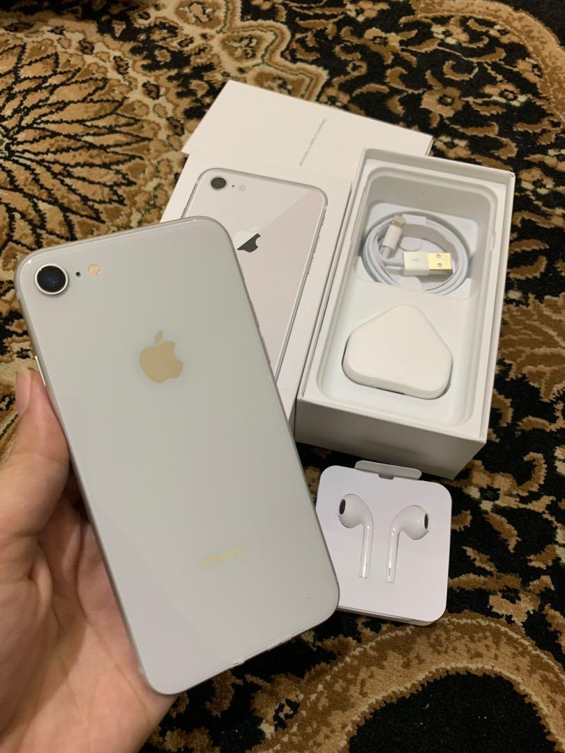Iphone 8 64gb silver NO MINUS bisa ALL sim