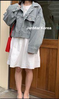 Janmar愛漂亮抓皺洋裝(灰藍)onsaturday同款