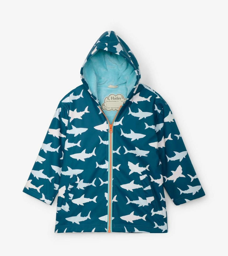 Kids Hatley Great White Shark Rain Jacket
