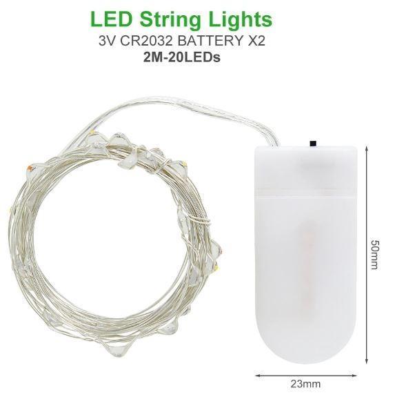 Lampu Hias Dekorasi 20 LED 2 Meter 2G22