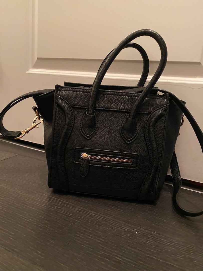 Leather black bag