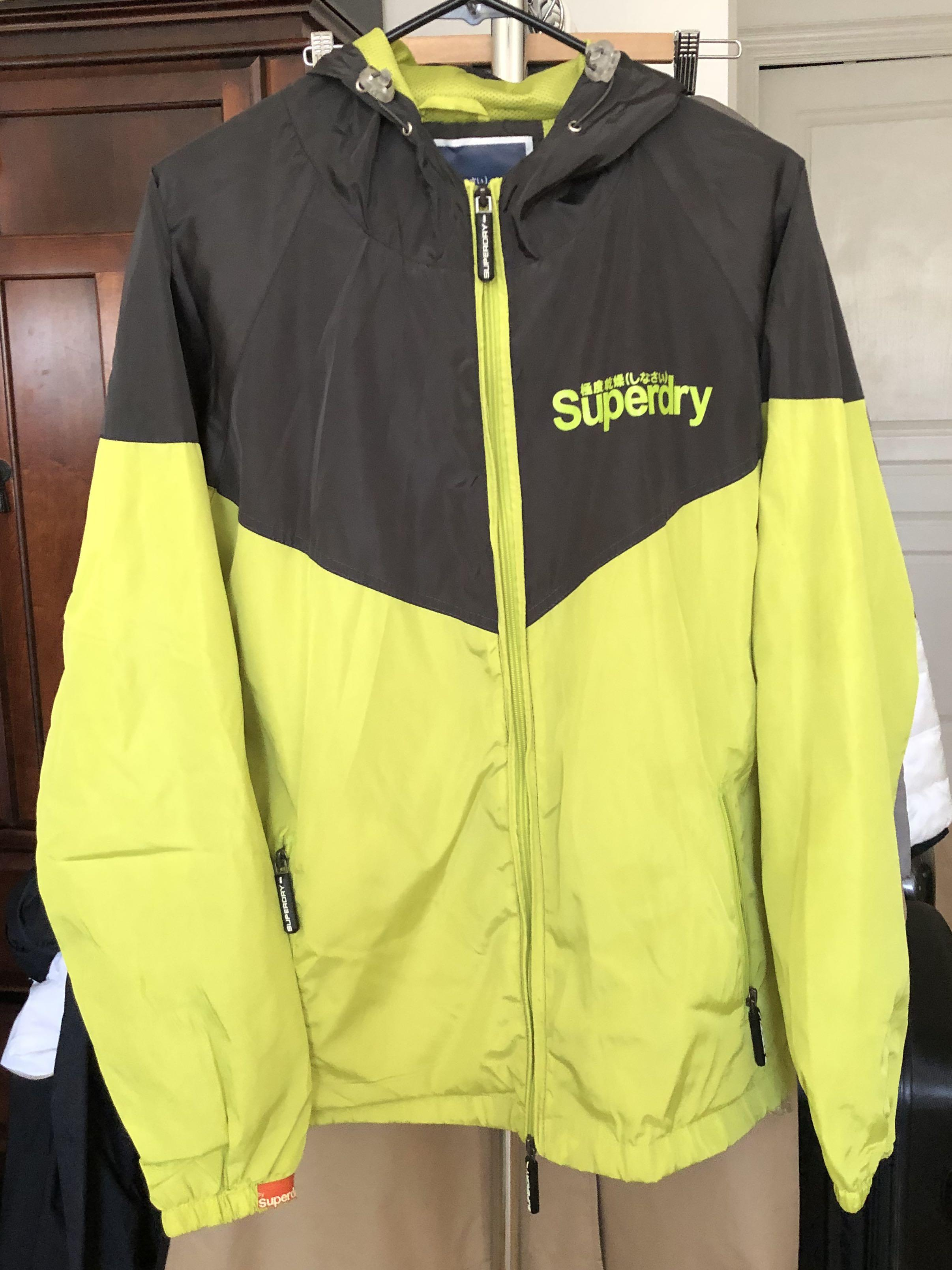 Lime Green Superdry Sport China Windbreaker