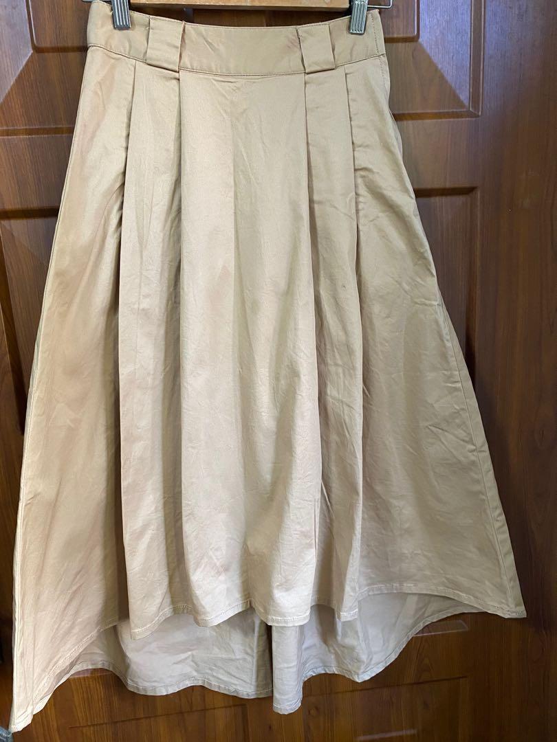 LOWRYS FARM 前短後長長裙有口袋