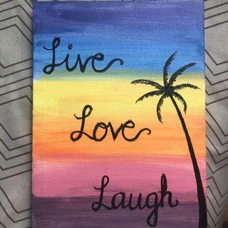 Handmade Painting with a quote