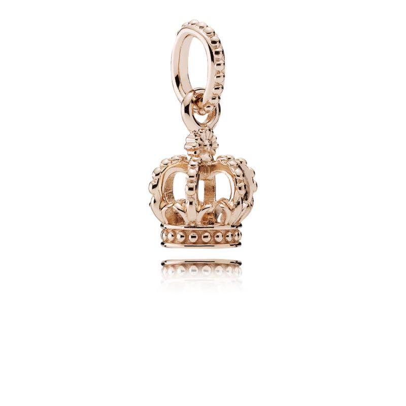 Pandora Rose Gold Crown Dangle Charm