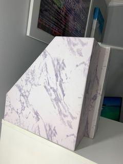 Paper trays organizers marble